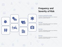 Frequency And Severity Of Risk Ppt Powerpoint Presentation Model Maker
