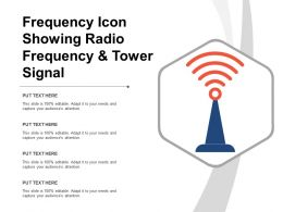 Frequency Icon Showing Radio Frequency And Tower Signal
