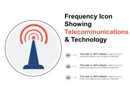Frequency Icon Showing Telecommunications And Technology