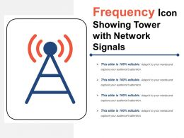 Frequency Icon Showing Tower With Network Signals