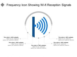 Frequency Icon Showing Wi-Fi Reception Signals