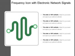 Frequency Icon With Electronic Network Signals