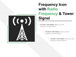 Frequency Icon With Radio Frequency And Tower Signal
