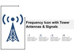 Frequency Icon With Tower Antennas And Signals