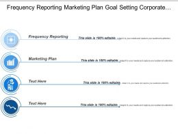 Frequency Reporting Marketing Plan Goal Setting Corporate Objectives