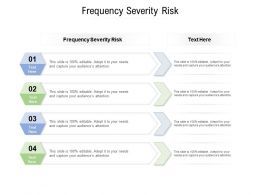 Frequency Severity Risk Ppt Powerpoint Presentation Icon Clipart Images Cpb