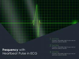 Frequency With Heartbeat Pulse In ECG
