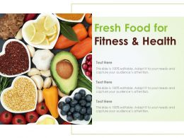 Fresh Food For Fitness And Health