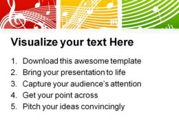 Fresh Music Theme Symbol PowerPoint Templates And PowerPoint Backgrounds 0611