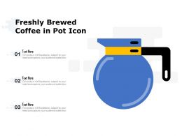 Freshly Brewed Coffee In Pot Icon