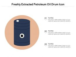 Freshly Extracted Petroleum Oil Drum Icon