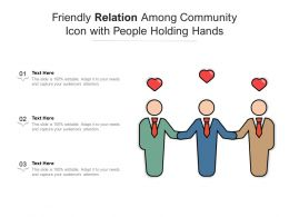 Friendly Relation Among Community Icon With People Holding Hands