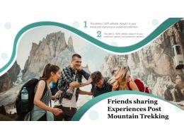 Friends Sharing Experiences Post Mountain Trekking