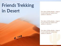 Friends Trekking In Desert