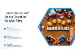 Friends Written With Blocks Placed On Wooden Table