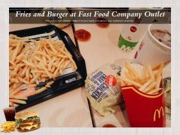 Fries And Burger At Fast Food Company Outlet