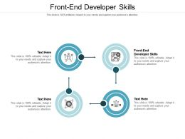 Front End Developer Skills Ppt Powerpoint Presentation Layouts Files Cpb