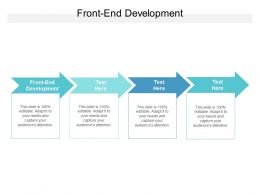 Front End Development Ppt Powerpoint Presentation Infographic Template Deck Cpb