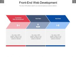 Front End Web Development Ppt Powerpoint Presentation Pictures Gallery Cpb