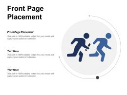 Front Page Placement Ppt Powerpoint Presentation File Structure Cpb