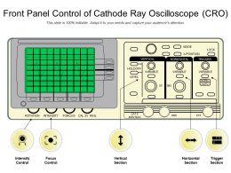 Front Panel Control Of Cathode Ray Oscilloscope CRO