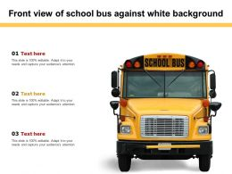 Front View Of School Bus Against White Background