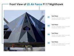 Front View Of US Air Force F117 Nighthawk