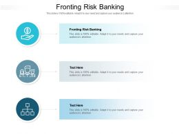 Fronting Risk Banking Ppt Powerpoint Presentation Outline Show