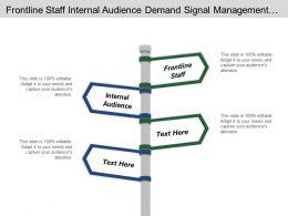 Frontline Staff Internal Audience Demand Signal Management Order Promising