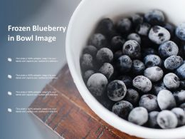Frozen Blueberry In Bowl Image