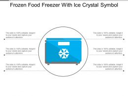 Frozen Food Freezer With Ice Crystal Symbol