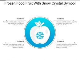 Frozen Food Fruit With Snow Crystal Symbol
