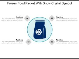 Frozen Food Packet With Snow Crystal Symbol