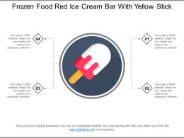 Frozen Food Red Ice Cream Bar With Yellow Stick