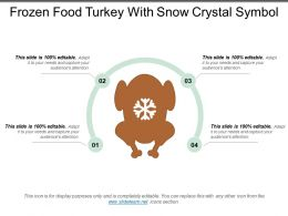 Frozen Food Turkey With Snow Crystal Symbol