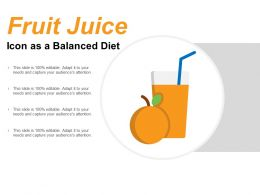Fruit Juice Icon As A Balanced Diet