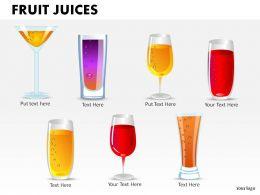 Fruit Juices Powerpoint Presentation Slides