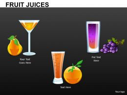 Fruit Juices Powerpoint Presentation Slides DB