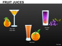 Fruit Juices Powerpoint Presentation Slides DB