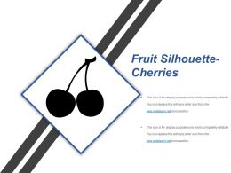 Fruit Silhouette Cherries Sample Presentation Ppt