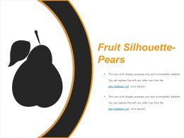Fruit Silhouette Pears Presentation Visual Aids