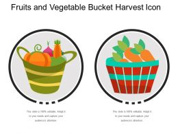 Fruits And Vegetable Bucket Harvest Icon