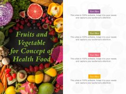 Fruits And Vegetable For Concept Of Health Food