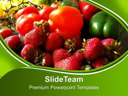 Fruits And Veggies Health Powerpoint Templates Ppt Themes And Graphics 0213