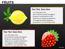 Fruits Powerpoint Presentation Slides DB