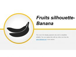 Fruits Silhouette Banana Presentation Powerpoint