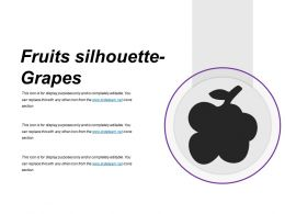 Fruits Silhouette Grapes Presentation Portfolio