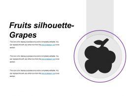 Fruits Silhouette Grapes Presentation Portfolio