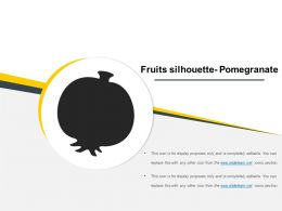 Fruits Silhouette Pomegranate Presentation Outline