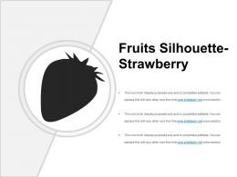 Fruits Silhouette Strawberry Presentation Outline